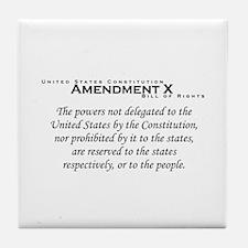 Amendment X Tile Coaster