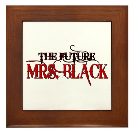 Future Mrs. Black Framed Tile