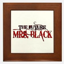 Future Mrs. Black Framed Tile