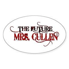 Future Mrs. Cullen Oval Sticker (10 pk)