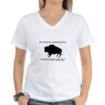 Rorschachs Rejected Plate 2 Women's V-Neck T-Shirt
