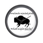 Rorschachs Rejected Plate 2 Wall Clock
