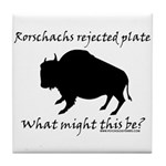 Rorschachs Rejected Plate 2 Tile Coaster