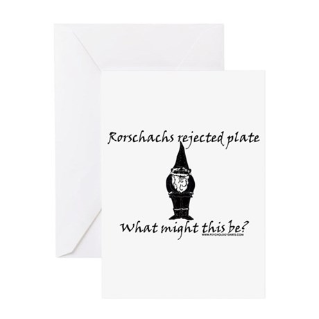 Rorschachs Rejected Plate 3 Greeting Card
