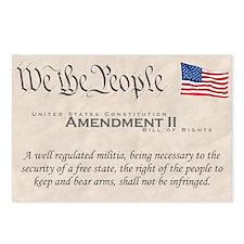 Amendment II w/Flag Postcards (Package of 8)
