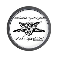 Rorschachs Rejected Plate 4 Wall Clock