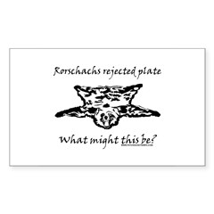 Rorschachs Rejected Plate 4 Rectangle Sticker 50