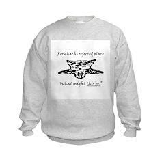 Rorschachs Rejected Plate 4 Kids Sweatshirt