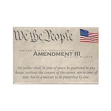 Amendment III w/Flag Rectangle Magnet