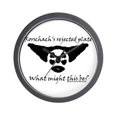 Rorschachs Rejected Plate 5 Wall Clock