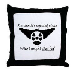 Rorschachs Rejected Plate 5 Throw Pillow