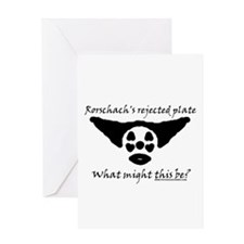 Rorschachs Rejected Plate 5 Greeting Card