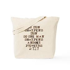 Proverbs 27:17 Tote Bag