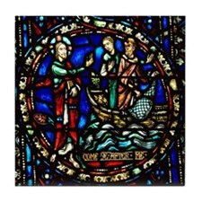 Jesus Calling the disciples Tile Coaster