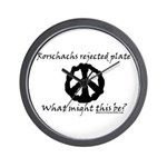 Rorschachs Rejected Plate 6 Wall Clock