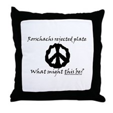 Rorschachs Rejected Plate 6 Throw Pillow