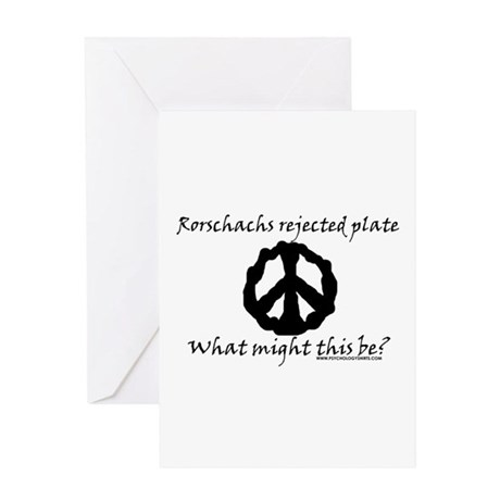 Rorschachs Rejected Plate 6 Greeting Card