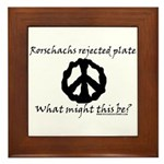 Rorschachs Rejected Plate 6 Framed Tile