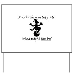 Rorschachs Rejected Plate 7 Yard Sign