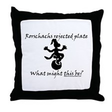 Rorschachs Rejected Plate 7 Throw Pillow