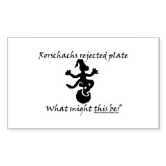 Rorschachs Rejected Plate 7 Rectangle Sticker 10