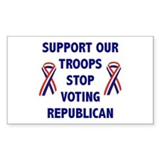 Support Our Troops! Rectangle Decal