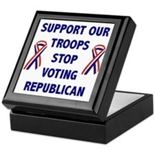 Support Our Troops! Keepsake Box