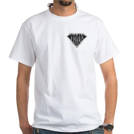 SuperVegan(Metal) White T-Shirt