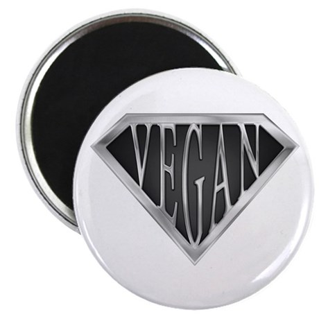 "SuperVegan(Metal) 2.25"" Magnet (10 pack)"