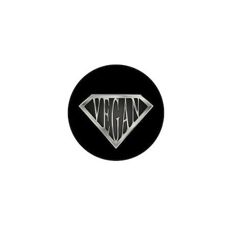 SuperVegan(Metal) Mini Button (100 pack)