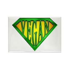 SuperVegan(Green) Rectangle Magnet (10 pack)