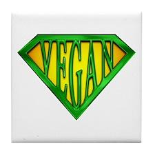 SuperVegan(Green) Tile Coaster