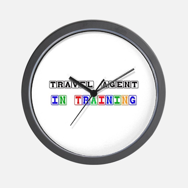 Travel Agent In Training Wall Clock