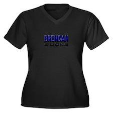 Brendan Sucks Women's Plus Size V-Neck Dark T-Shir