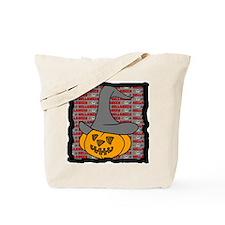 Pumpkin in halloween hat Tote Bag