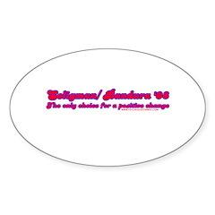 Seligman/ Bandura '08 Oval Sticker (50 pk)