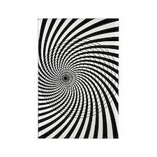 Op Art Circle Rectangle Magnet