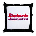 Zimbardo For Sheriff Throw Pillow