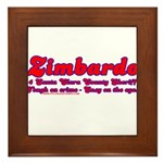 Zimbardo For Sheriff Framed Tile