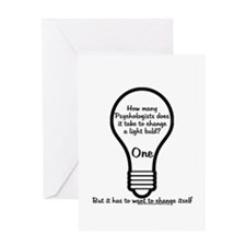 How Many Psychologists to Cha Greeting Card