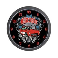 Corvette Heraldry Wall Clock