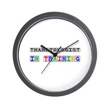 Thanatologist In Training Wall Clock
