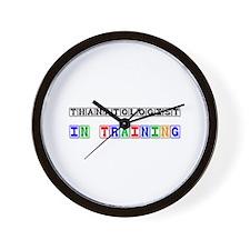 Thanatologist In Training Wall Clock