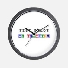 Test Pilot In Training Wall Clock