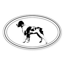 Brittany Silhouette Oval Decal