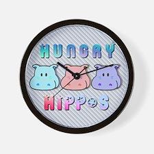 Hungry Hippo's Wall Clock