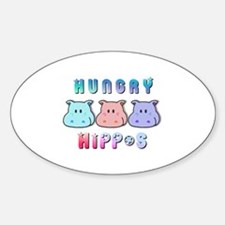 Hungry Hippo's Oval Decal