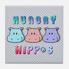 Hungry Hippo's Tile Coaster