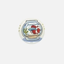 Beta Fighting Fish Mini Button