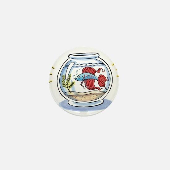 Beta Fighting Fish Mini Button